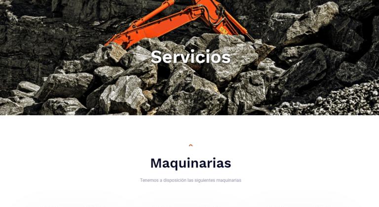 servicios de maquinarias notte   Página Web   JDiazWeb